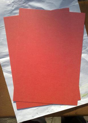 Картон красный металлизированный