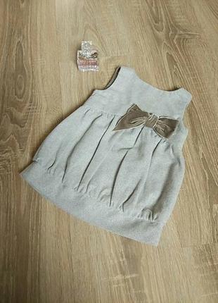 Нарядное стильное платье zara плаття сукня на девочку 6-9 мес....
