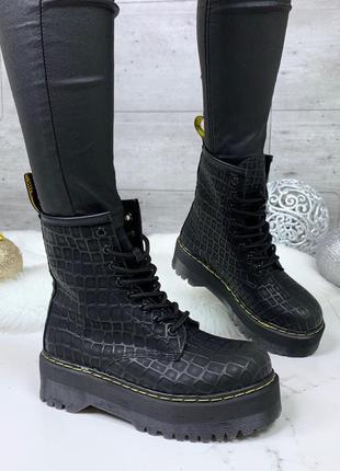 ❤ женские черные весенние деми  ботинки полусапожки ботильоны❤