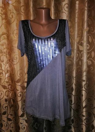 ✨✨✨красивая женская трикотажная футболка, блузка с пайетками e...