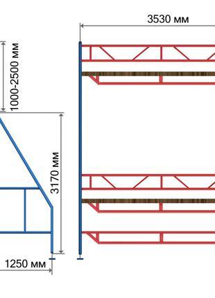 Клино-хомутовые леса для строительных работ КХЛ от завода
