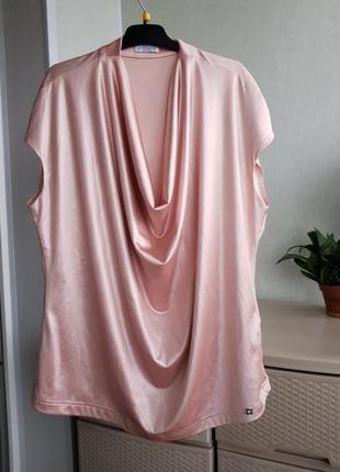 Коттоновая нарядная блуза пудровый топ польша