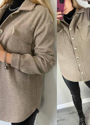 Рубашка-пальто шоколад