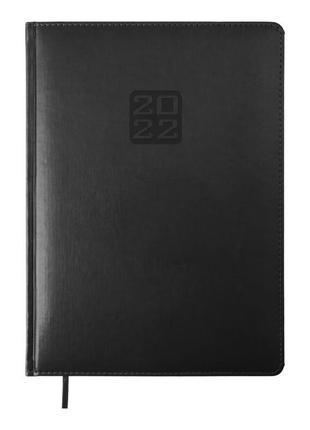 Ежедневник датированный 2022 А4 Buromax Bravo (Soft) черный ко...