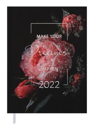 Ежедневник датированный 2022 А5 Buromax MAGIC черный картон тв...