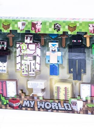 Фигурки Minecraft в блистере
