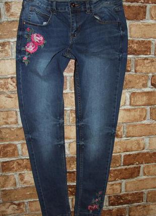 джинсы девочке нарядные с вышивкой 14 лет