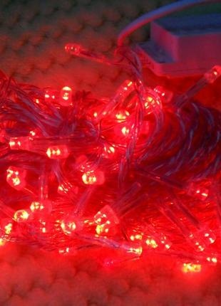 Гирлянда новогодняя 140лампочек 12 мет цвет красная