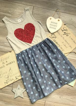 Платье сарафан с сердцем gap 8-9л