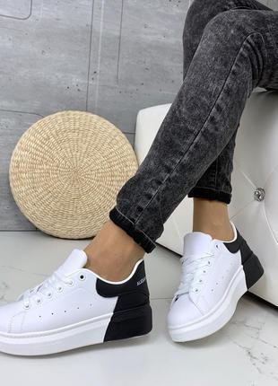 ❤ женские черные белые / черные кроссовки ❤