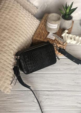 Кожа кожаная сумка на длинной ручке cross-body сумочка трендов...