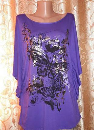 🌺🦋🌺красивая женская трикотажная футболка, блузка батального ра...