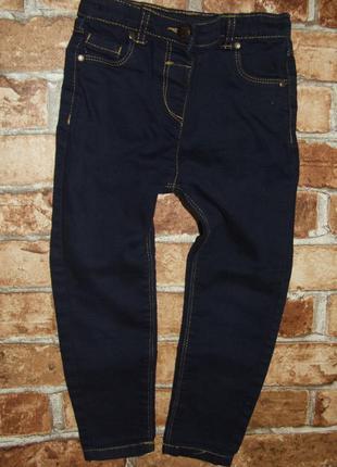 джинсы узкачи синие девочке 3 - 4 года