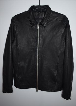 Кожанная куртка selected homme