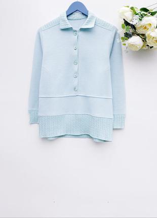 Нежный свитер с воротничком свитер кофта