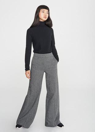 Новые шерстяные брюки палаццо с кашемиром m&s размер 18