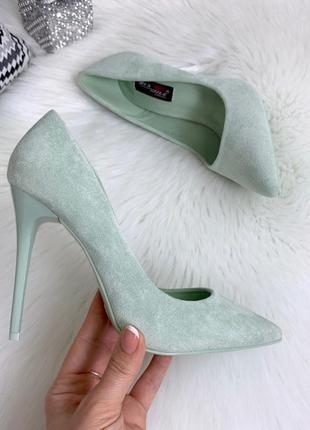 ❤ женские мятные туфли лодочки ❤
