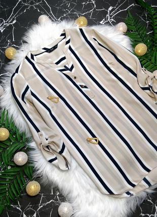 Актуальная блузка в полоску с v-образным вырезом f&f