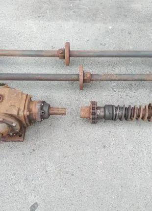 Вал каскадного основного елеватора картофелекопалки редуктор