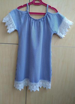 Хлопковое платье на 6 лет