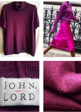 Базовый свитер, гольф цвета марсала из экстра шерсти меринос !...