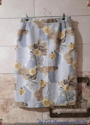 Новая стильная базовая юбка миди карандаш в составе лён в круп...