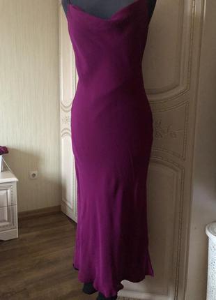 Шелковое платье комбинация, в бельевом стиле, натуральный шёлк...