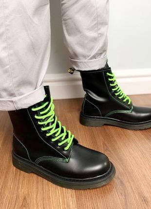 Ботиночки на зеленых шнурочках