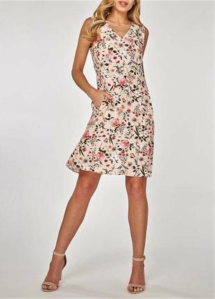 Невероятное😍 женственное расклешенное платье миди с цветочным ...