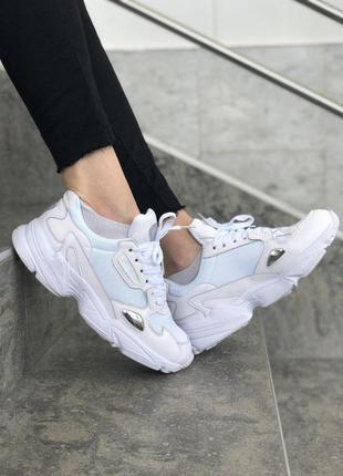 Шикарные женские кроссовки adidas falcon white 😍 (весна/ лето/...