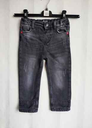 Стильные,теплые детские джинсы denim co