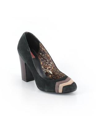 Эффектные кожаные туфли missoni, натуральная кожа замш,