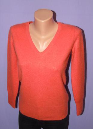 Кашемировый коралловый свитер 8 размера
