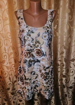 🌺👗🌺женское короткое платье с воланами, рюшами в цветочный прин...
