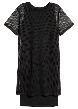 Модное платье футболка с сеткой divided от h&m