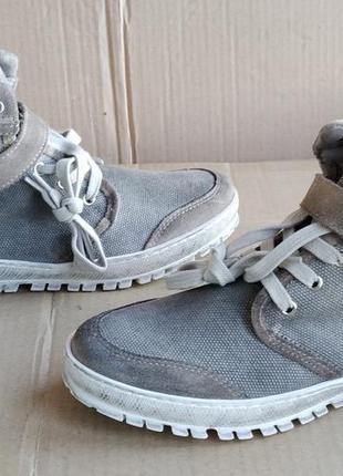 Новые стилизованные кожаные стильные кеды кроссовки ботиночки ...