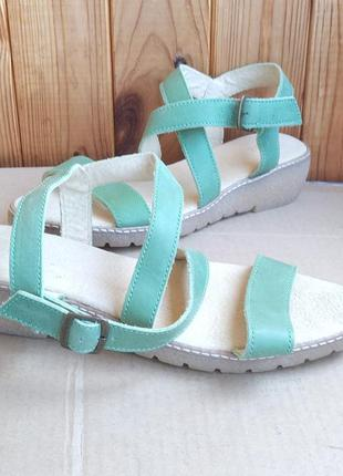 Новые полностью кожаные босоножки piure сандалии туфли