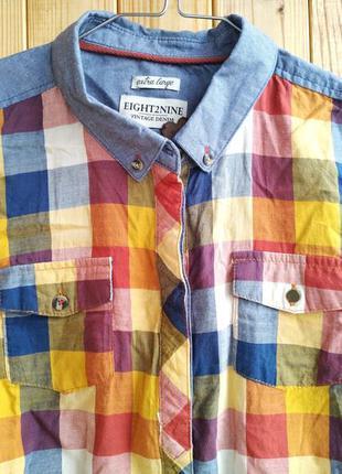 Яркая лёгкая модная блузка рубашка eight 2 nine vintage denim