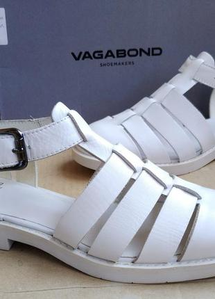 Новые полностью кожаные туфли стильные босоножки сандалии vaga...