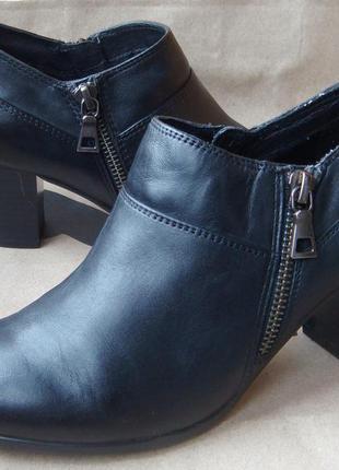 Новые кожаные туфли 5 th avenue утеплённые ботильоны