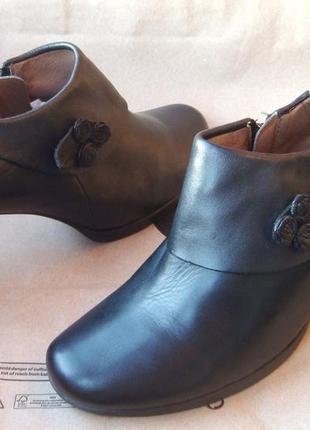 Оригинальные полностью кожаные туфли ботильоны caprice