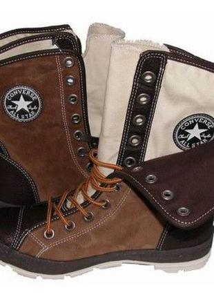 Стильные кожаные кеды полусапожки converse storm boot all star...