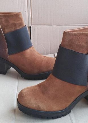 Очень стильные ботиночки удобные кожаные утеплённые ботильоны ...