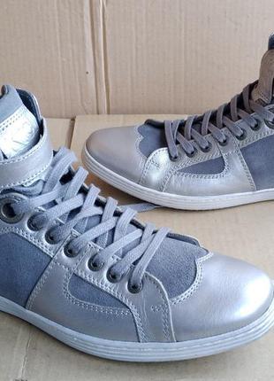 Новые кожаные стильные кеды ботиночки кроссовки kickers