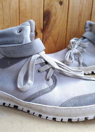 Стилизованные ботиночки высокие кеды кроссовки кожаные внутри ...