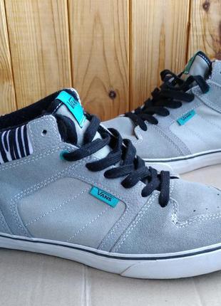 Кожаные  кроссовки стильные кеды ботиночки vans оригинал
