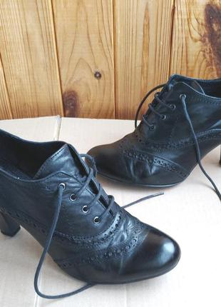 Кожаные ботильоны, ботинки, удобные туфли chester