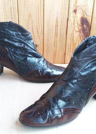 Кожаные ботильоны  ботинки удобные туфли ботинки короткие gabor