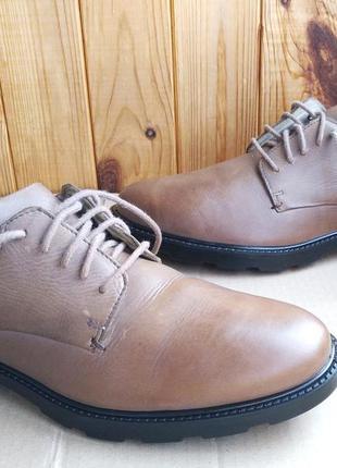 Удобные полностью кожаные туфли hotter comfort