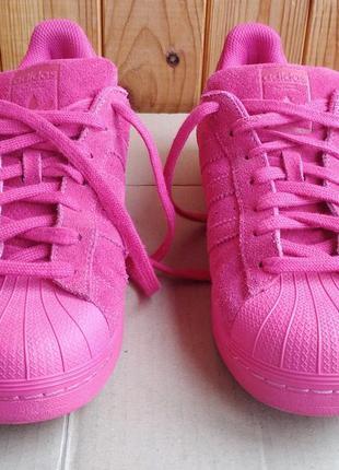 Суперстильные замшевые кроссовки adidas superstar